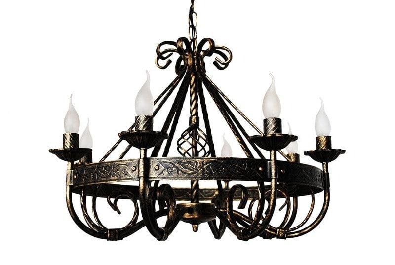 Кованые люстры, светильники Потолочная кованая люстра Арт. ЛЮ-001 Norkovka