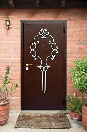 Металлическая кованая дверь Арт. Д-008