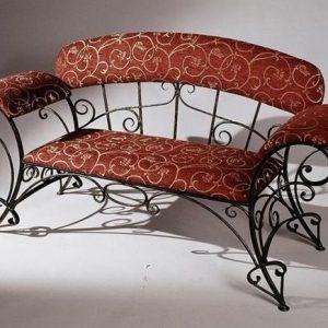 Кованый диван для прихожей Арт. М-015