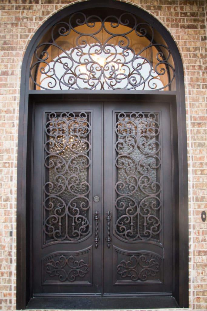 Кованые двери Кованая дверь с ажурными вставками Арт. Д-015 Norkovka
