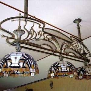 Кованые люстры, светильники Большая кованая люстра Арт. ЛЮ-004 Norkovka