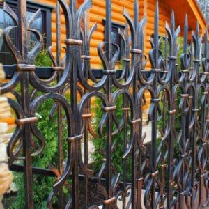 Кованые заборы Кованый забор под старину Арт. З-008 Norkovka