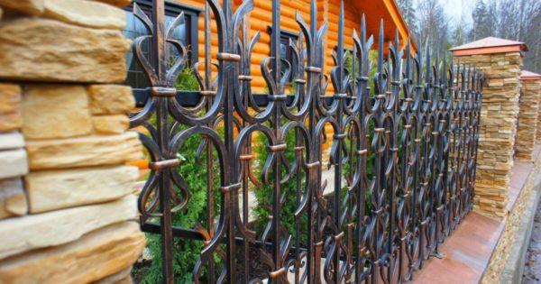 Кованый забор под старину Арт. З-008