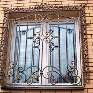 Кованые оконные решетки Декоративная решетка на окно Арт. Р-008 Norkovka