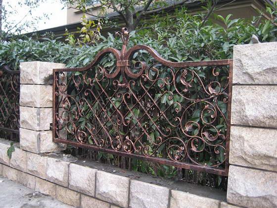 Винтажный кованый забор Арт. З-005