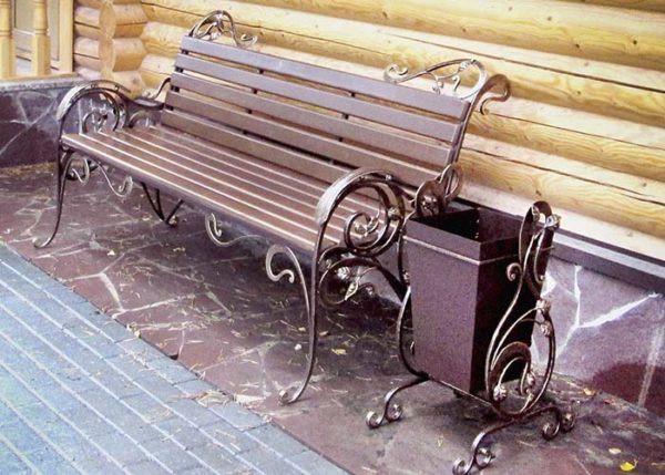 Кованая скамейка в стиле «Прованс» Арт. СК-007