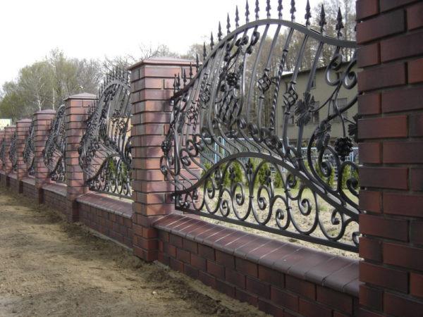 Кованый забор без основы Арт. З-001