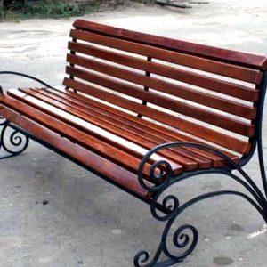 Кованые скамейки Изящная кованая скамейка Арт. СК-003 Norkovka