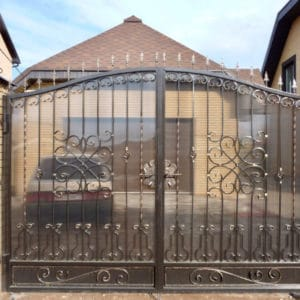 Кованые ворота Джон Арт. В-010