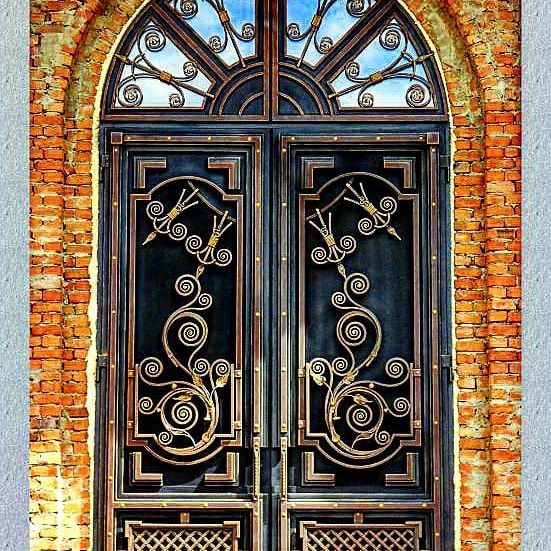 Кованые двери Эксклюзивная кованая дверь Арт. Д-012 Norkovka