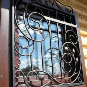 Кованые оконные решетки Элитная кованая решетка Арт. Р-005 Norkovka