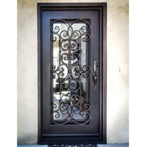 Кованая дверь со стеклом Арт. Д-002