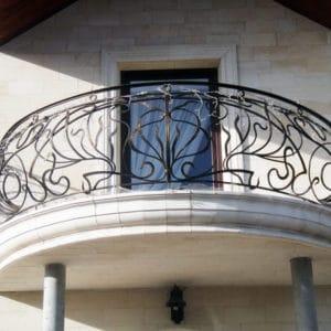 Французские балконы Полукруглый кованый балкон Арт. Б-001 Norkovka