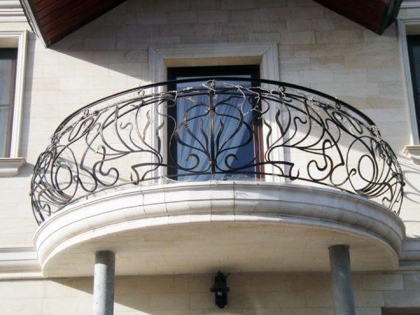 Полукруглый кованый балкон Арт. Б-001