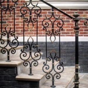 Кованые перила для лестниц Уличные кованые перила Арт. П-007 Norkovka
