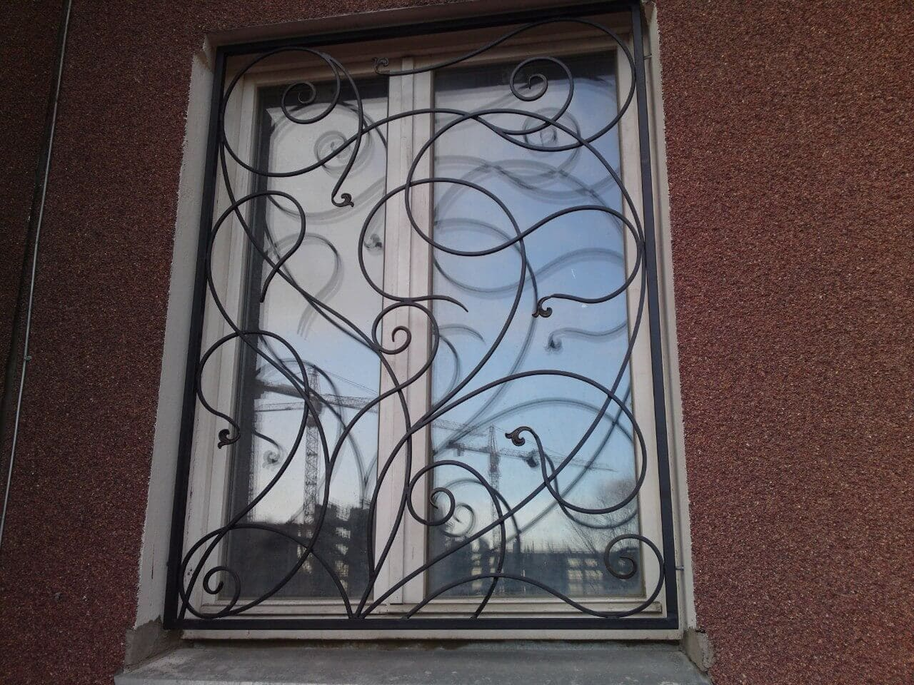 Кованые оконные решетки Прямоугольной кованая решетка Арт. Р-003 Norkovka