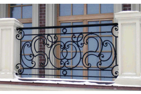 Прямой кованый балкон Арт. Б-014