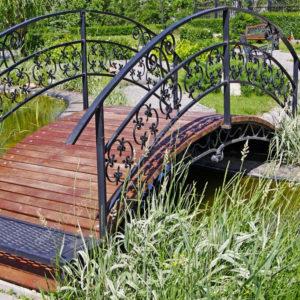 Кованые мосты Кованый мостик для частного дома Арт. МО-008 Norkovka