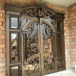 Двойная кованая дверь Арт. Д-003