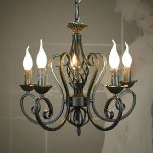 Кованые люстры, светильники