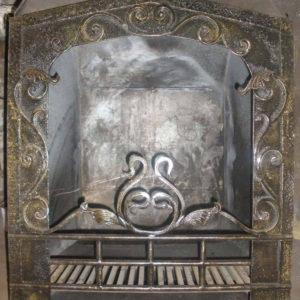Кованый экран для камина латунного цвета Арт. КА-010