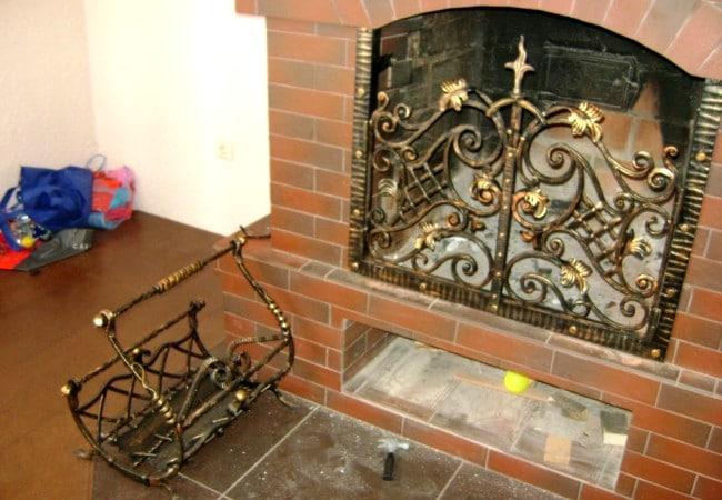 Кованые камины Авторский кованый экран на камин Арт. КА-003 Norkovka