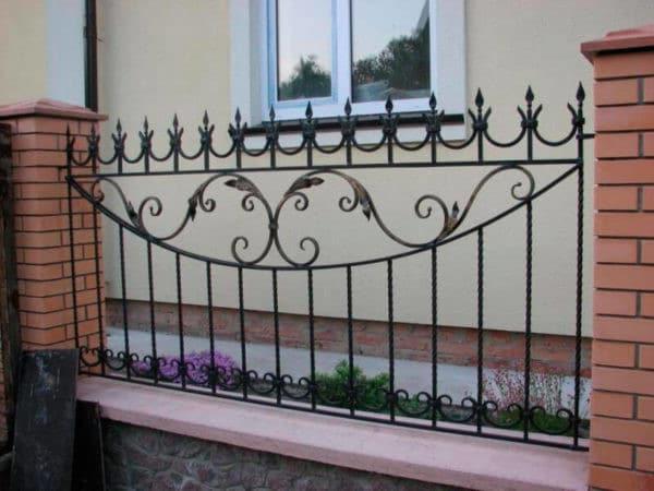 Кованый забор из металла Арт. З-004