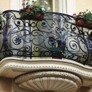 Французские балконы Эксклюзивный кованый балкон Арт. Б-011 Norkovka