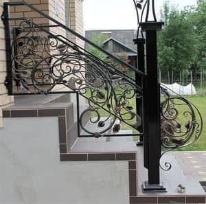 Кованые перила для лестниц Кованые перила для улицы Арт. П-003 Norkovka