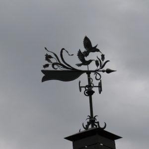 Нежный кованый флюгер Арт. Ф-002