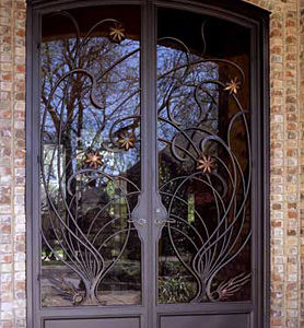 Кованая дверь ручной работы Арт. Д-010