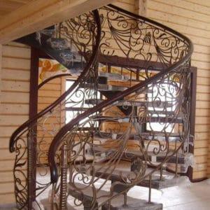 Оригинальная кованая лестница Клэр Арт. Л-005