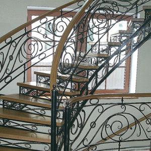 Кованая ажурная лестница Жаклин Арт Л-002