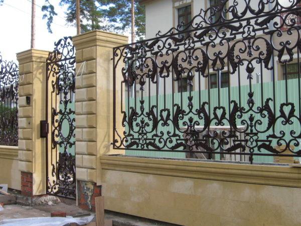 Ажурный кованый забор Арт. З-003