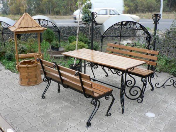 Мебель для сада с кованым основанием Арт. М-001
