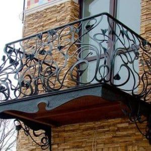 Французские балконы Красивый балкон с металлическим основанием Арт. Б-015 Norkovka