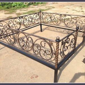 Кованые оградки Ритуальная кованая ограда на могилку Арт 1 Norkovka