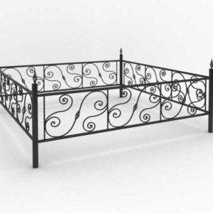 Кованые оградки Ритуальная кованая ограда на могилку Арт 8 Norkovka