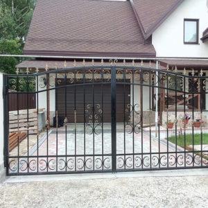 Кованые распашные ворота Кованые распашные ворота Арт. В-001 Norkovka