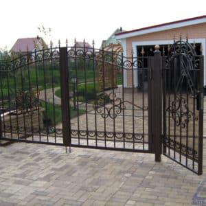 Кованые распашные ворота Кованые распашные ворота Арт. В-005 Norkovka