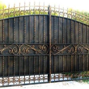 Кованые распашные ворота Кованые распашные ворота Арт. В-002 Norkovka