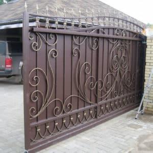 Кованые откатные ворота Ворота откатные кованые АРТ 005 Norkovka